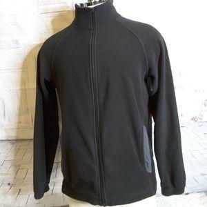 3/$30 Starter black grey fleece athletic jacket